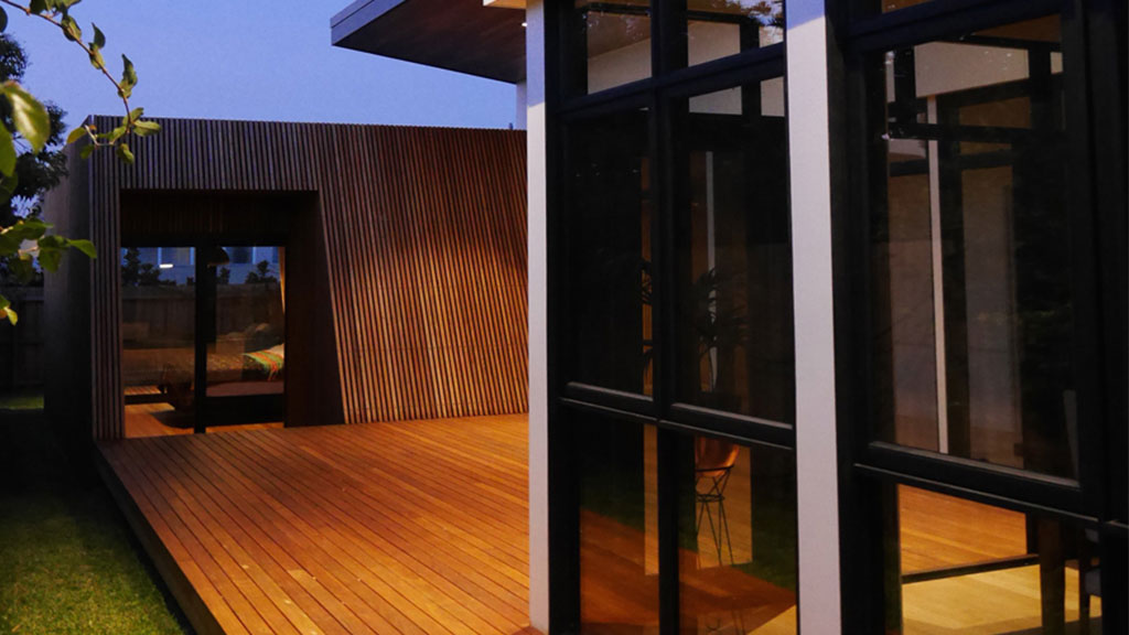 Sustainable renovation Melbourne – Blackbutt Timber Cladding, flooring, battens, decking