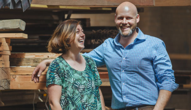 Bree Anastasi and Aaron McKirdy of Timber Revival