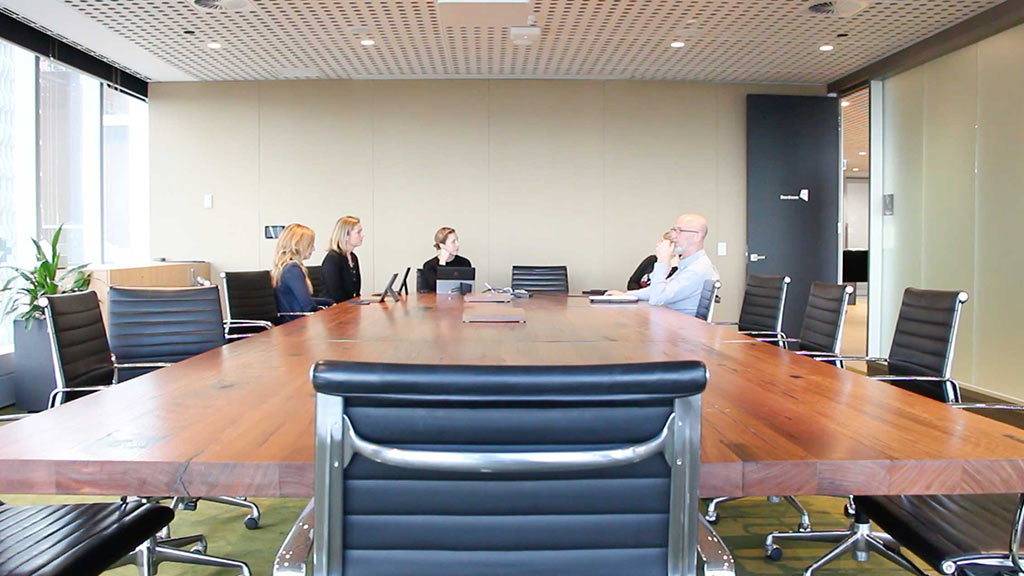 Commercial projects fitout recycled timber wood indoor office internal design cladding boardroom table desk bench shelving battens melbourne australia timber revival