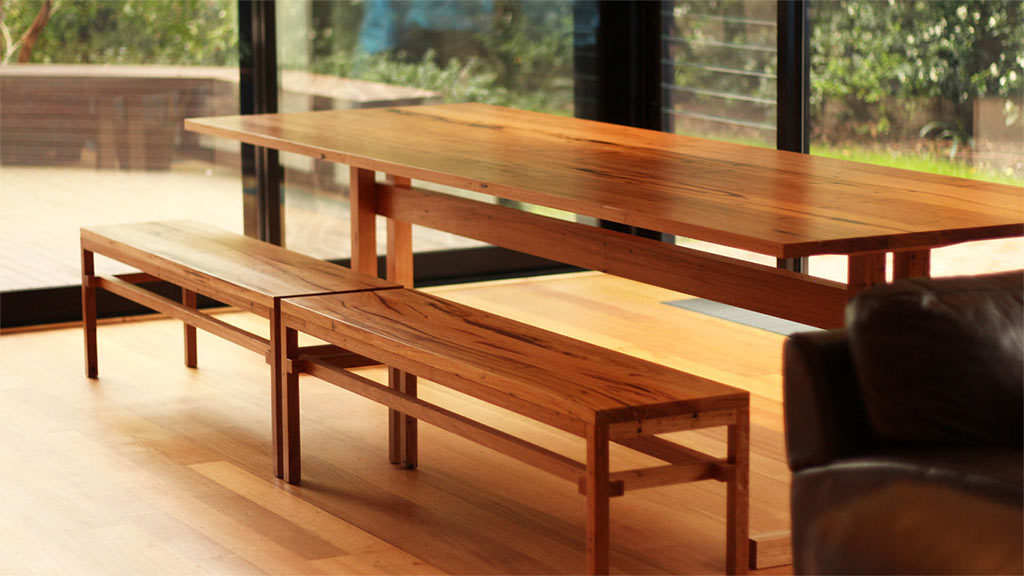 Custom recycled timber refectory table