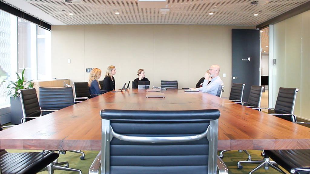 Recycled timber boardroom table (16-seater)