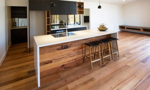 Recycled Messmate blend flooring installation melbourne