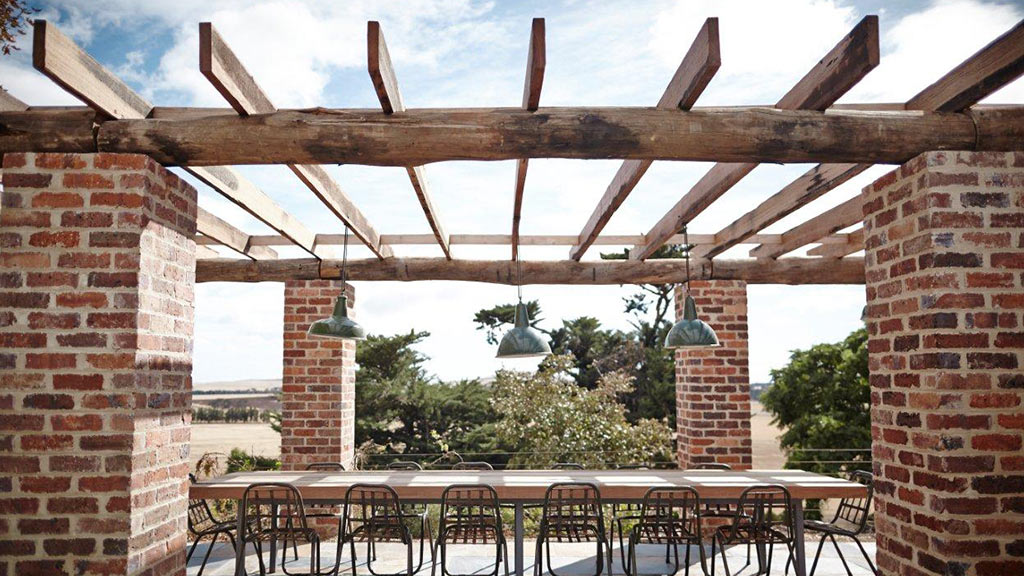 Recycled timber posts and beams