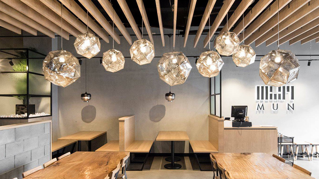 Hospitality restaurant fitout Melbourne MUN Korean Timber Revival