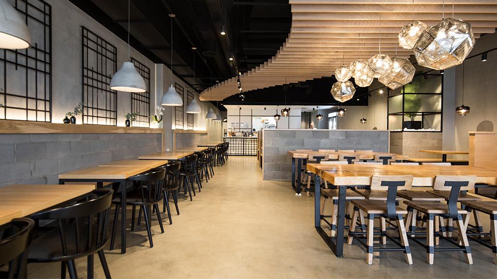Hospitality restaurant fitout Melbourne MUN Korean Timber Revival