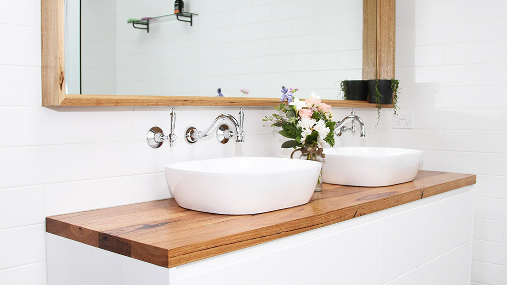 Picture of: Williamstown Renovation Melbourne Elke Meitzel Treads Benchtop Vanity Shelving Recycled Timber Timber Revival 8 Timber Revival