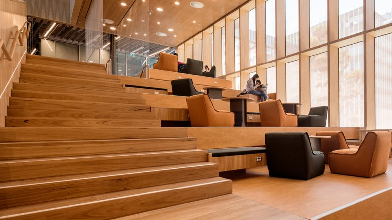 Monash University New Blackbutt Flooring Melbourne
