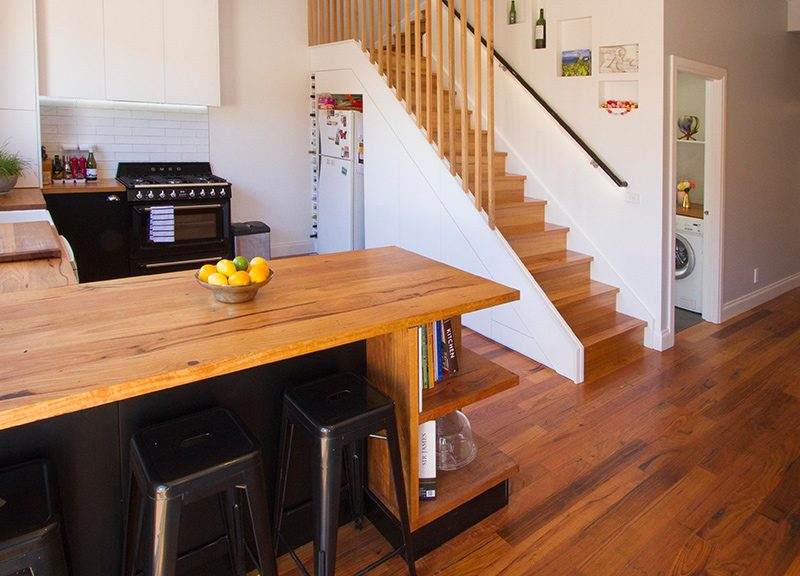 recycled messmate benchtop flooring stair treads